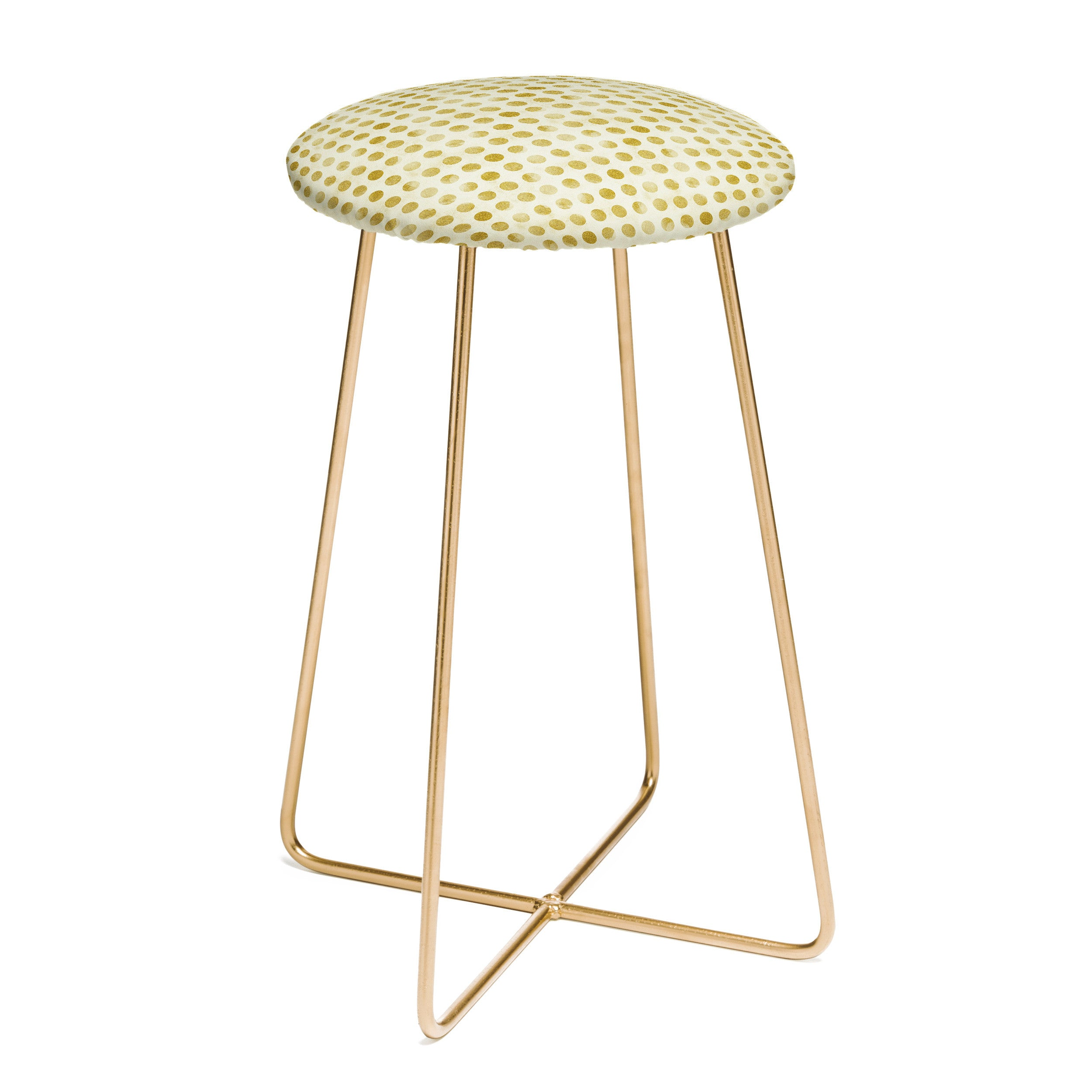 Leah Flores Gold Confetti Counter Stool