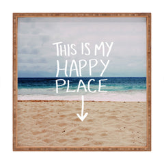 Leah Flores Happy Place X Beach Square Tray
