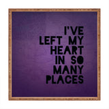 Leah Flores My Heart Square Tray