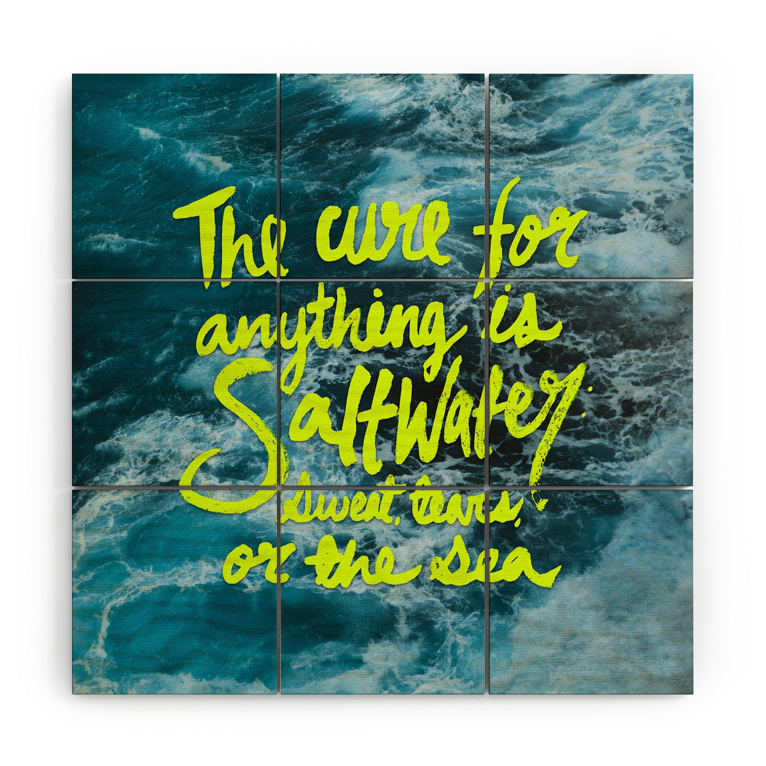 Leah Flores Saltwater Cure Wood Wall Mural