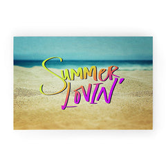Leah Flores Summer Lovin Beach Welcome Mat