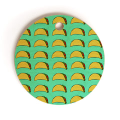 Leah Flores Taco Party Cutting Board Round