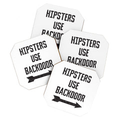 Leeana Benson Hipsters Use Back Door Coaster Set