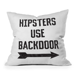 Leeana Benson Hipsters Use Back Door Throw Pillow