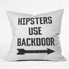 Leeana Benson Hipsters Use Back Door Outdoor Throw Pillow