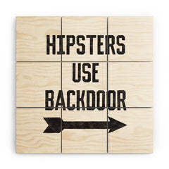 Leeana Benson Hipsters Use Back Door Wood Wall Mural