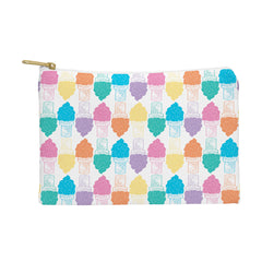 Leeana Benson Ice Cream Color Pattern Pouch