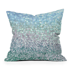 Lisa Argyropoulos Blue Mist Snowfall Throw Pillow