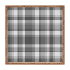 Lisa Argyropoulos Dark Gray Plaid Square Tray