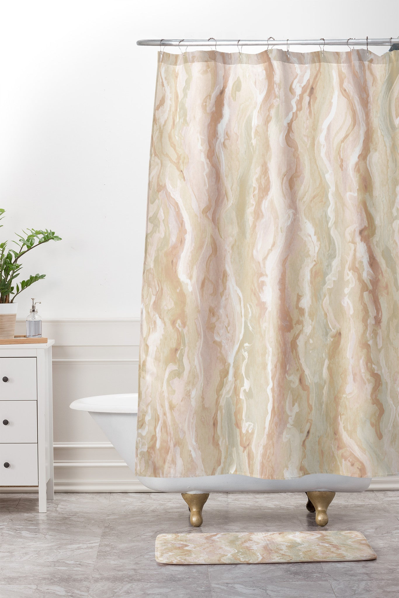 Desert Melt. Shower Curtain And Mat. By Lisa Argyropoulos