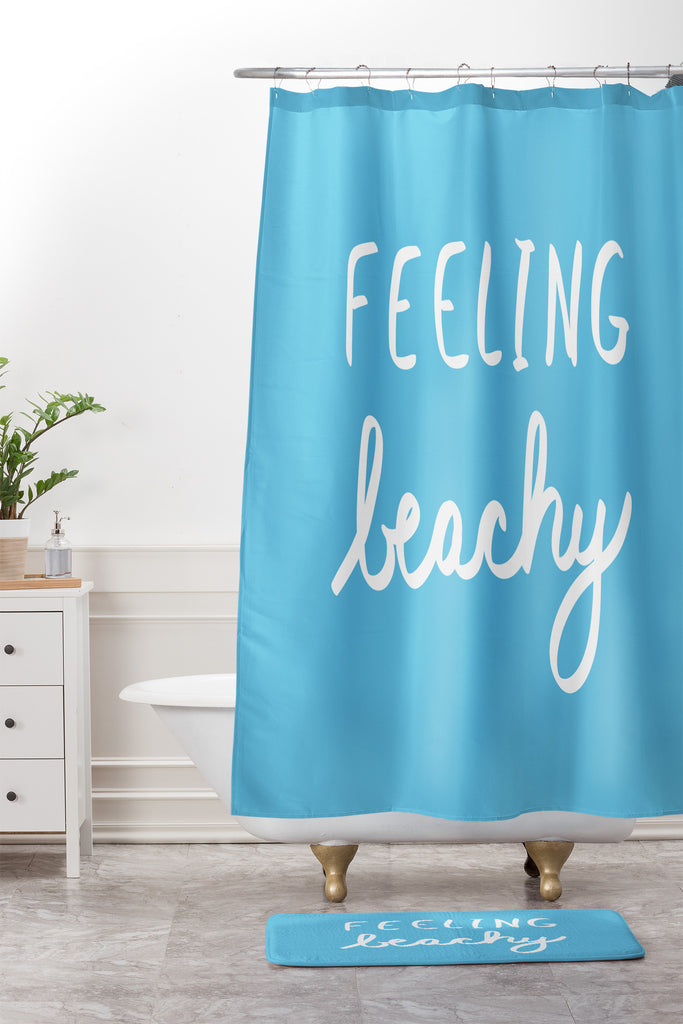 Feeling Beachy Shower Curtain And Mat Lisa Argyropoulos