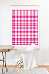 Lisa Argyropoulos Glamour Pink Plaid Art Print And Hanger