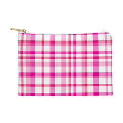 Lisa Argyropoulos Glamour Pink Plaid Pouch