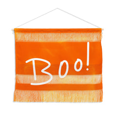 Lisa Argyropoulos Halloween Boo Orange Wall Hanging Landscape