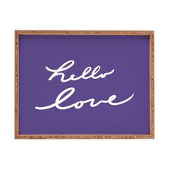 Lisa Argyropoulos Hello Love Violet Rectangular Tray