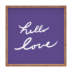 Lisa Argyropoulos Hello Love Violet Square Tray