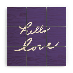 Lisa Argyropoulos Hello Love Violet Wood Wall Mural