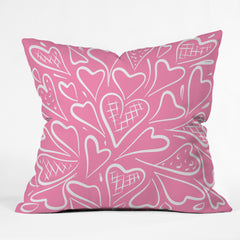 Lisa Argyropoulos Love is in the Air Rose Pink Outdoor Throw Pillow