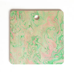 Lisa Argyropoulos Marble Twist Spring Cutting Board Square