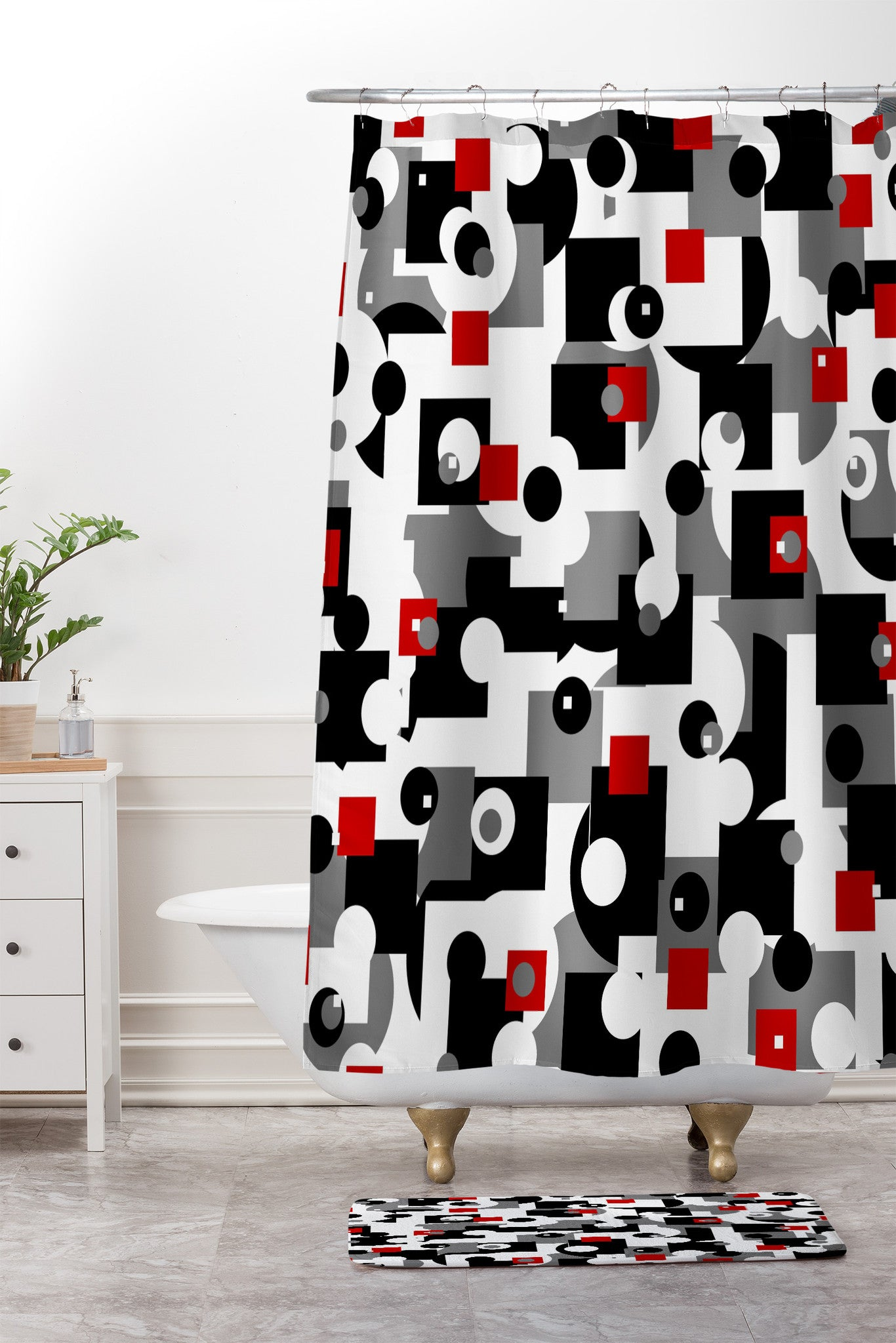 Lisa Argyropoulos Metro Shower Curtain And Mat