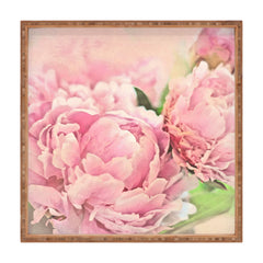 Lisa Argyropoulos Pink Peonies Square Tray