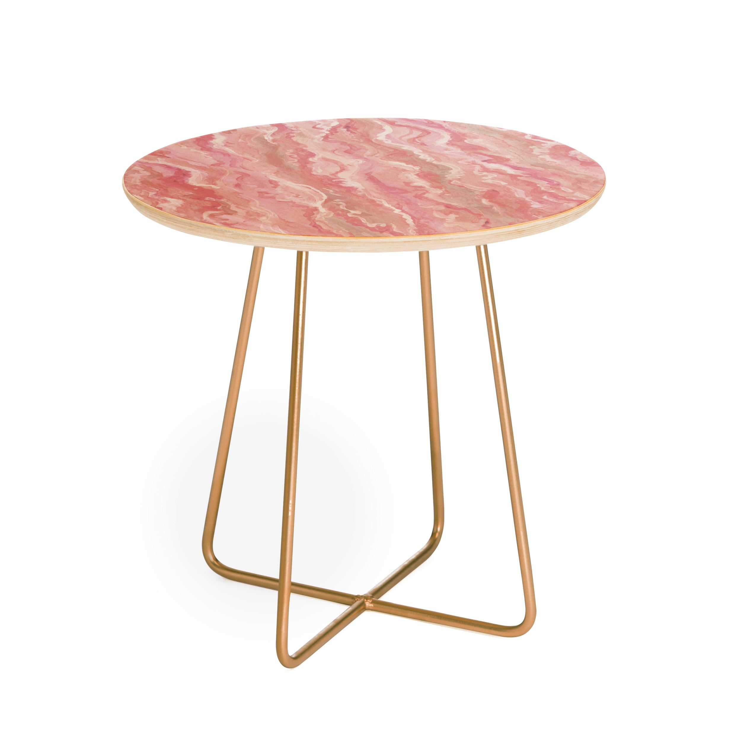 Lisa Argyropoulos Soft Blush Melt Round Side Table