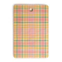 Lisa Argyropoulos Spring Days Plaid Cutting Board Rectangle
