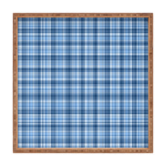 Lisa Argyropoulos Winter Blue Plaid Square Tray