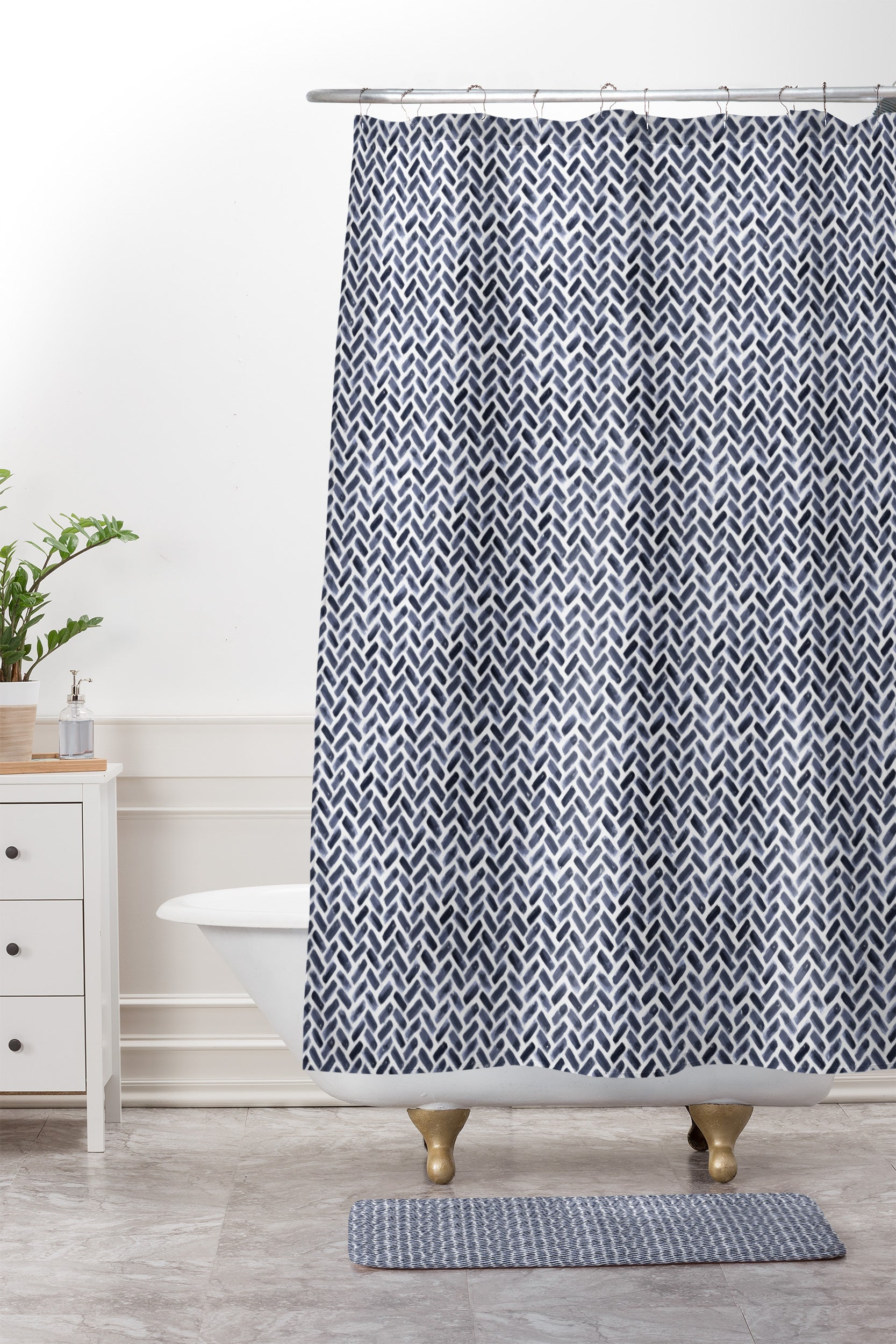 Shower Curtain And Mat By Little Arrow Design Co