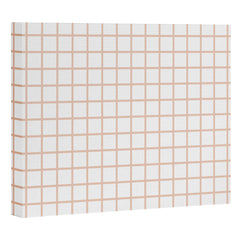 Little Arrow Design Co blush grid Art Canvas