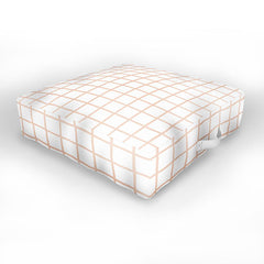 Little Arrow Design Co blush grid Outdoor Floor Cushion