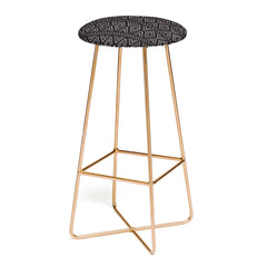 Little Arrow Design Co farmhouse diamonds ebony Bar Stool