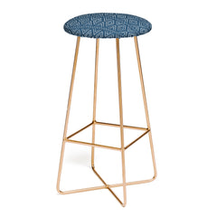 Little Arrow Design Co farmhouse diamonds navy Bar Stool