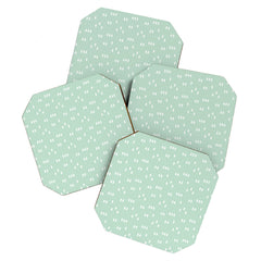 Little Arrow Design Co geometric evergreen Coaster Set