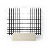 Little Arrow Design Co monochrome grid Mini Art Print