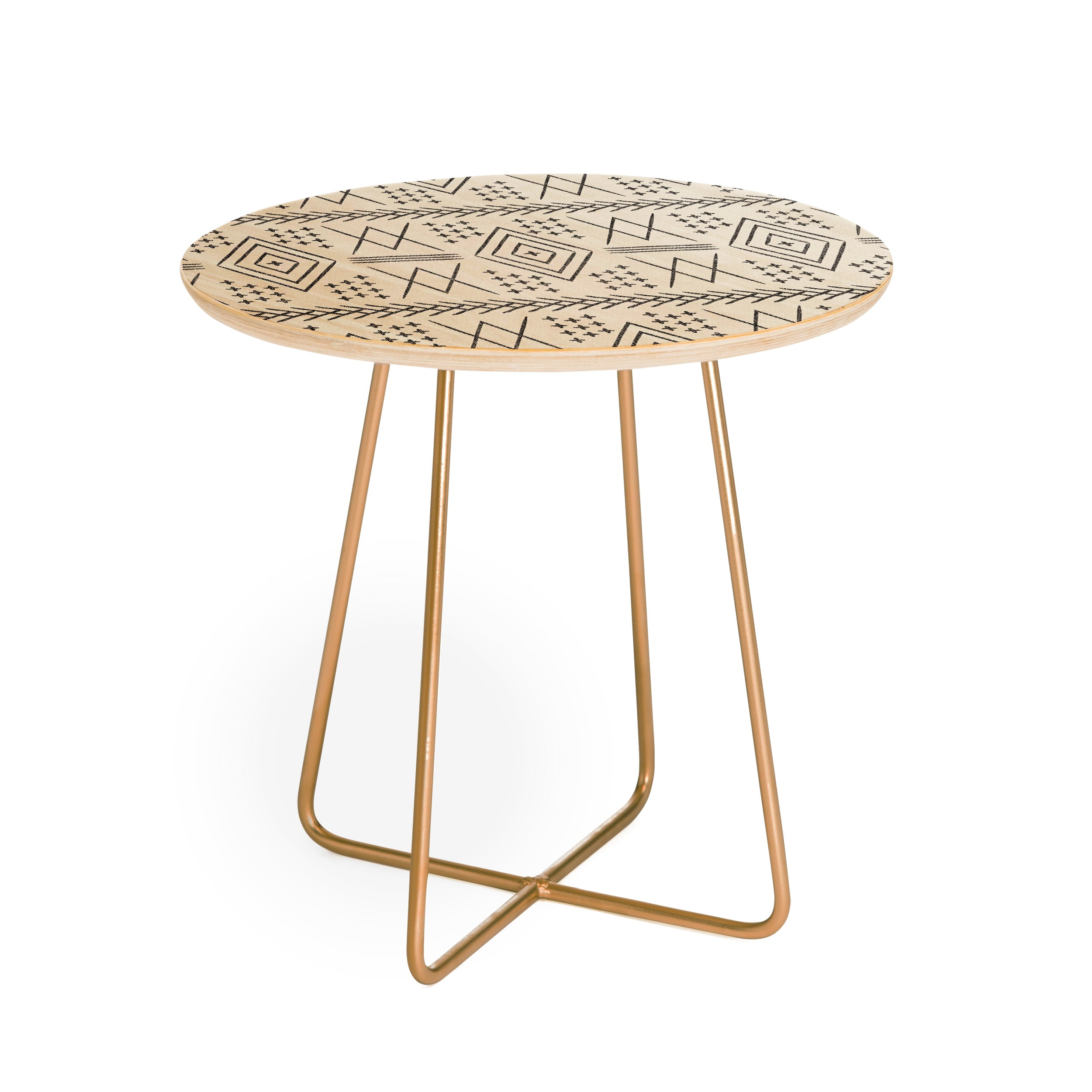 Little Arrow Design Co Vintage Moroccan Round Side Table
