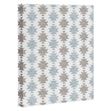Little Arrow Design Co Woven Aztec in Muted Blue Art Canvas