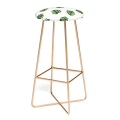 Little Arrow Design Co Woven Monstera in Green Bar Stool