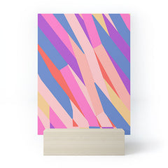 Little Dean Color stripe Mini Art Print