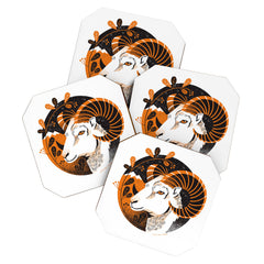 Lucie Rice Aldo Aries Coaster Set