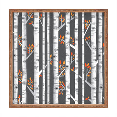 Lucie Rice Birches Be Crazy Square Tray