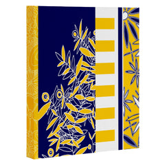 Madart Inc. Blue And Yellow Florals Art Canvas