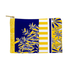 Madart Inc. Blue And Yellow Florals Pouch