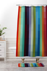 Madart Inc. City Colors Shower Curtain And Mat