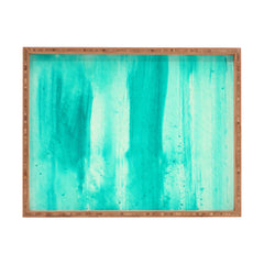Madart Inc. Modern Dance Aqua Passion Rectangular Tray