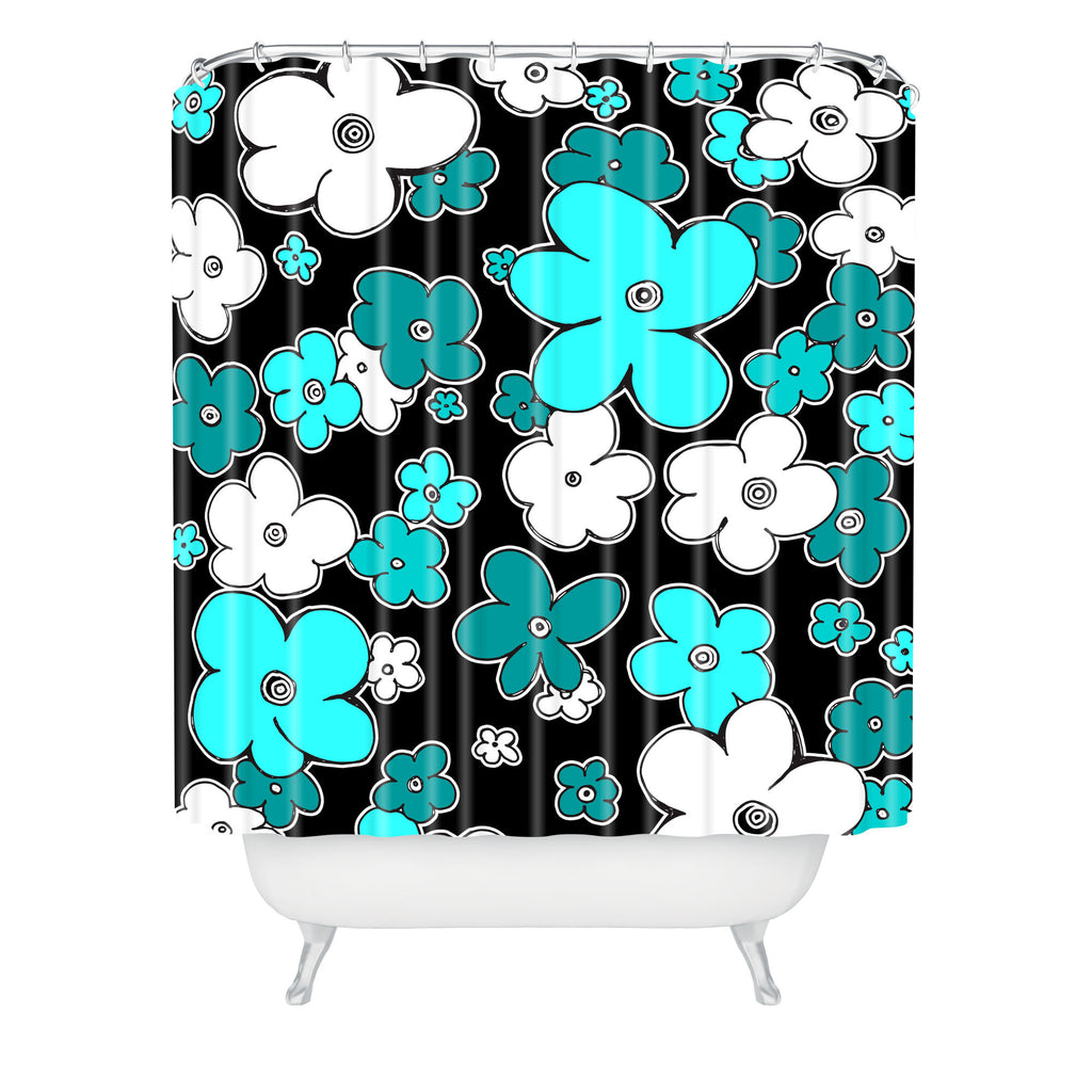 Emejing Turquoise And Black Shower Curtain Photos - 3D house ...