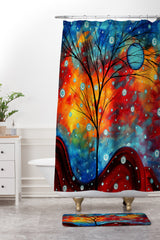 Madart Inc. Summer Snow Shower Curtain And Mat