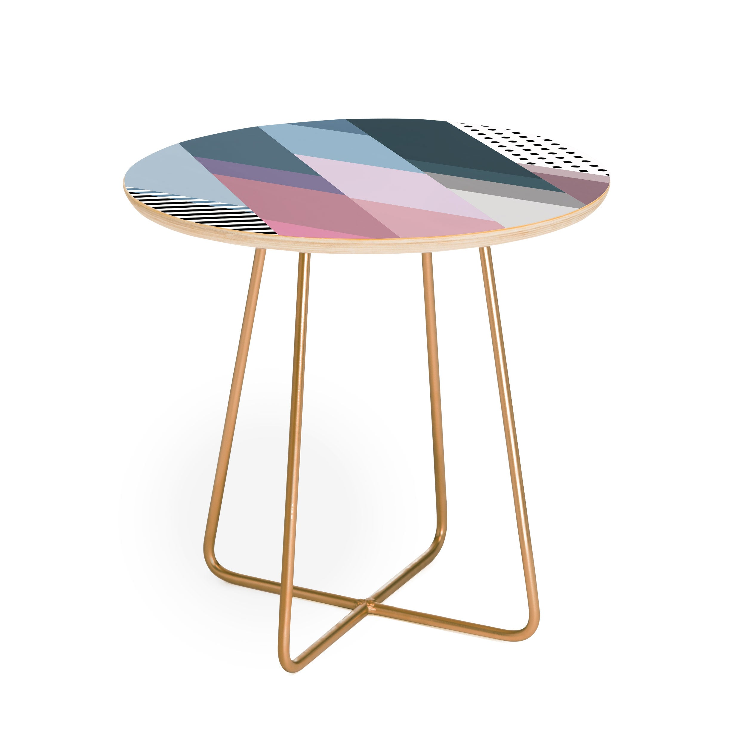 Mareike Boehmer Geometry Blocking 9 Round Side Table