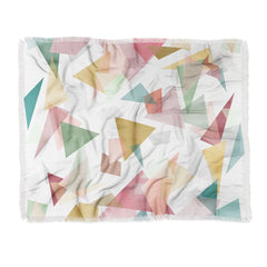 Mareike Boehmer Triangle Confetti 1 Throw Blanket