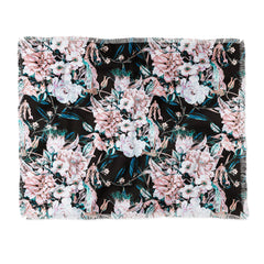 Marta Barragan Camarasa Dark wild pink bloom Throw Blanket